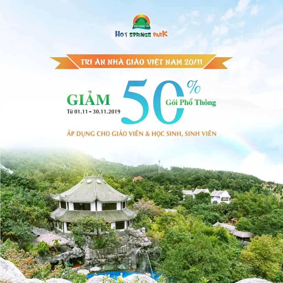 Giảm 50% vé vào cổng Núi Thần Tài nhân dịp ngày Nhà Giáo Việt Nam