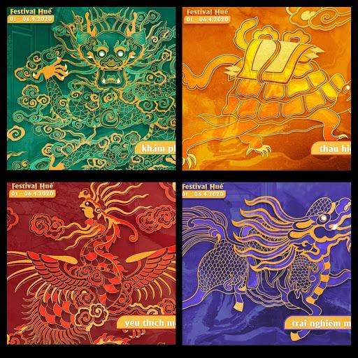 Festival Huế 2020: Bốn linh vật trong nghệ thuật cung đình Huế