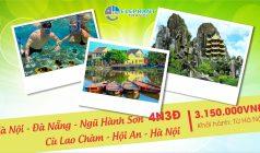 ✅Tham quan Đà Nẵng – Ngũ Hành Sơn – Hội An – Cù Lao Chàm – Đà Nẵng khởi hành từ Hà Nội